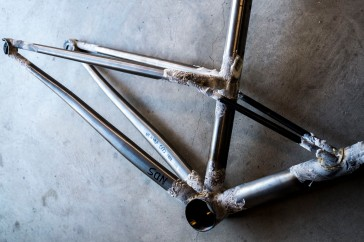CXP-01 frame tacked for final brazing